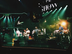 Bun B and Parquet Courts rehearse for 'The Late Show With Stephen Colbert.'