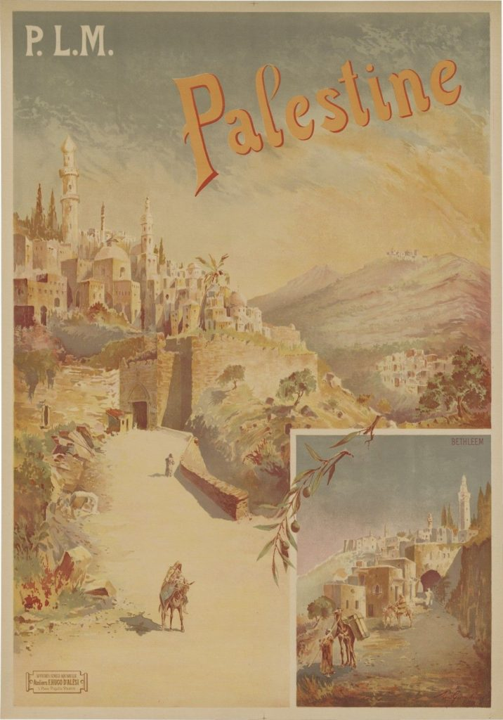 Palestine Railways poster 1898